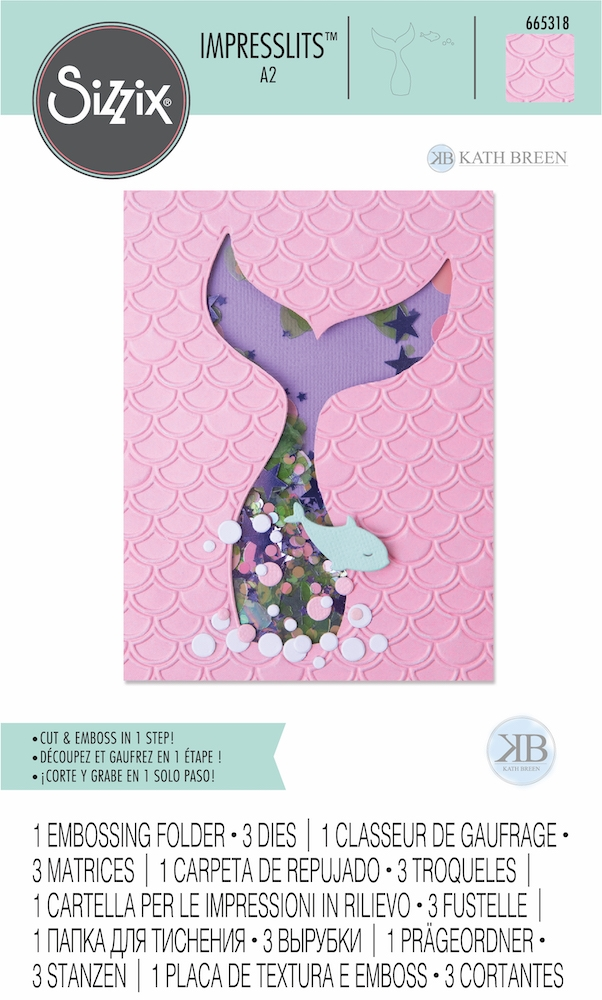 Sizzix SCALES AND TAILS Impresslits Cut and Emboss Folder 665318 zoom image