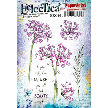 Paper Artsy ECLECTICA3 Kay Carley 46 Cling Stamp ekc46