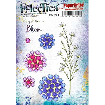 Paper Artsy ECLECTICA3 Kay Carley 44 Cling Stamp ekc44