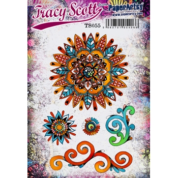 Paper Artsy TRACY SCOTT 55 Cling Stamp ts055*