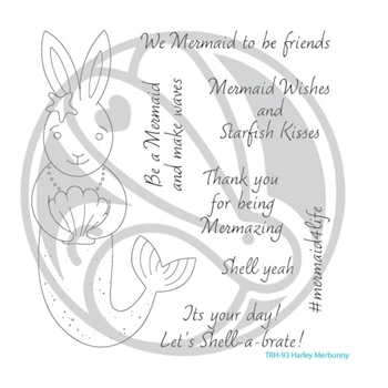 The Rabbit Hole Designs HARLEY MERBUNNY Clear Stamps TRH 93