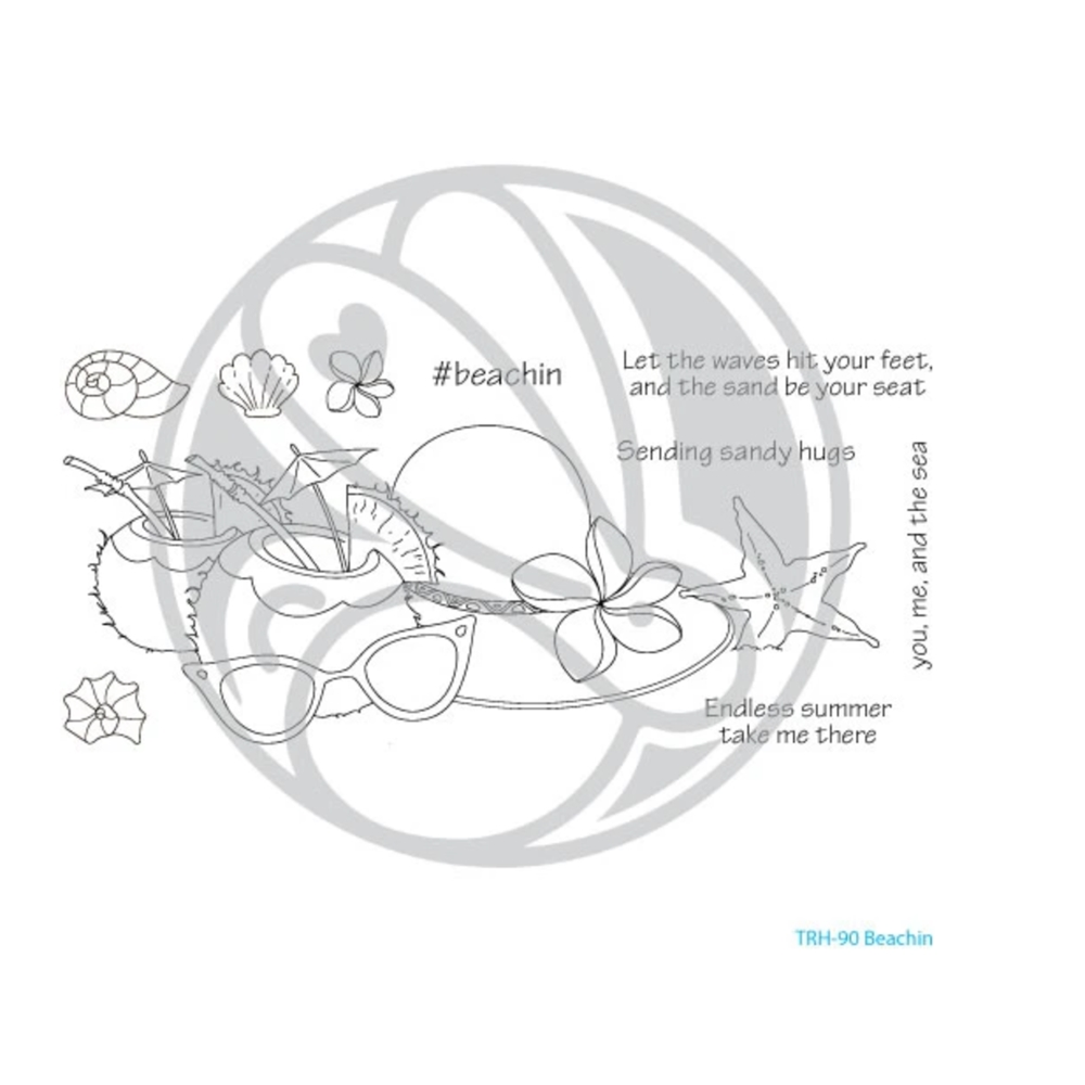 The Rabbit Hole Designs BEACHIN Clear Stamps TRH 90 zoom image