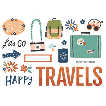 Simple Stories HAPPY TRAVELS Page Pieces 14827