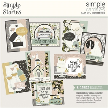 Simple Stories JUST MARRIED Card Kit 15529