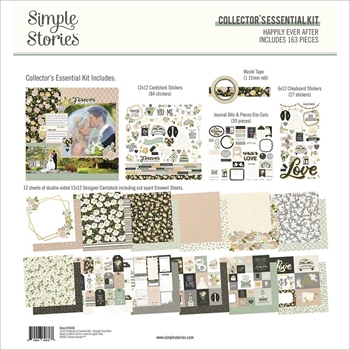 Simple Stories JUST MARRIED 12 x 12 Collector's Essential Kit 15530