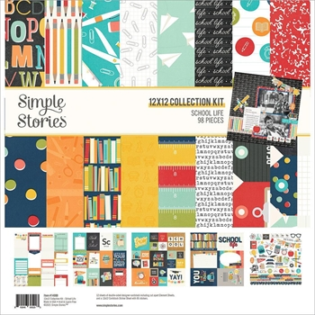 Simple Stories SCHOOL LIFE 12 x 12 Collection Kit 14900