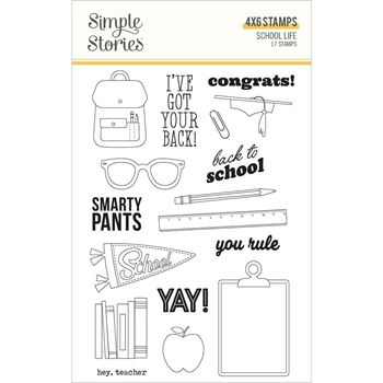 Simple Stories SCHOOL LIFE Clear Stamp Set 14925