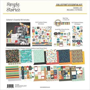 Simple Stories SCHOOL LIFE 12 x 12 Collector's Essential Kit 14930