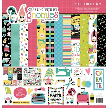 PhotoPlay CRAFTING WITH MY GNOMIES 12 x 12 Collection Pack cmg2721 **