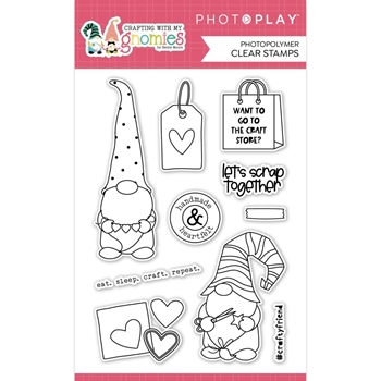 PhotoPlay CRAFTING WITH MY GNOMIES Clear Stamps cmg2730