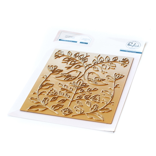 PinkFresh Studio FOLK ART BIRDS Hot Foil Plate 108321 Preview Image