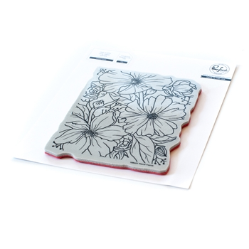 PinkFresh Studio FLORAL FOCUS Cling Stamp Set 108421