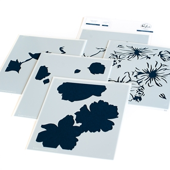 PinkFresh Studio FLORAL FOCUS Layering Stencil Set 108521