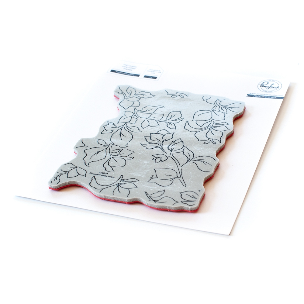 PinkFresh Studio BOUGAINVILLEA PRINT Cling Stamp Set 109021 zoom image