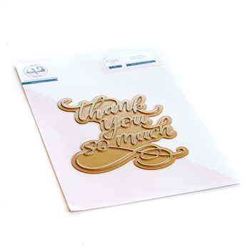 PinkFresh Studio THANK YOU SO MUCH Hot Foil Plate 109421