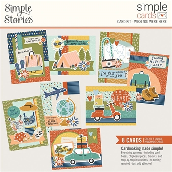 Simple Stories WISH YOU WERE HERE Card Kit 14829