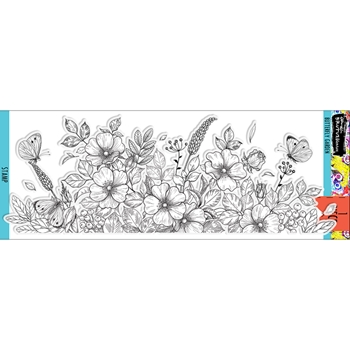 Brutus Monroe BUTTERFLY GARDEN Clear Stamps bru4222