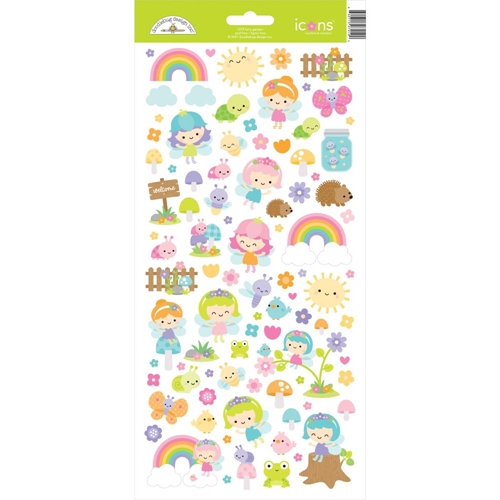 Doodlebug FAIRY GARDEN ICONS Cardstock Stickers 7219 Preview Image