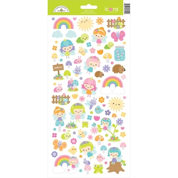 Doodlebug FAIRY GARDEN ICONS Cardstock Stickers 7219