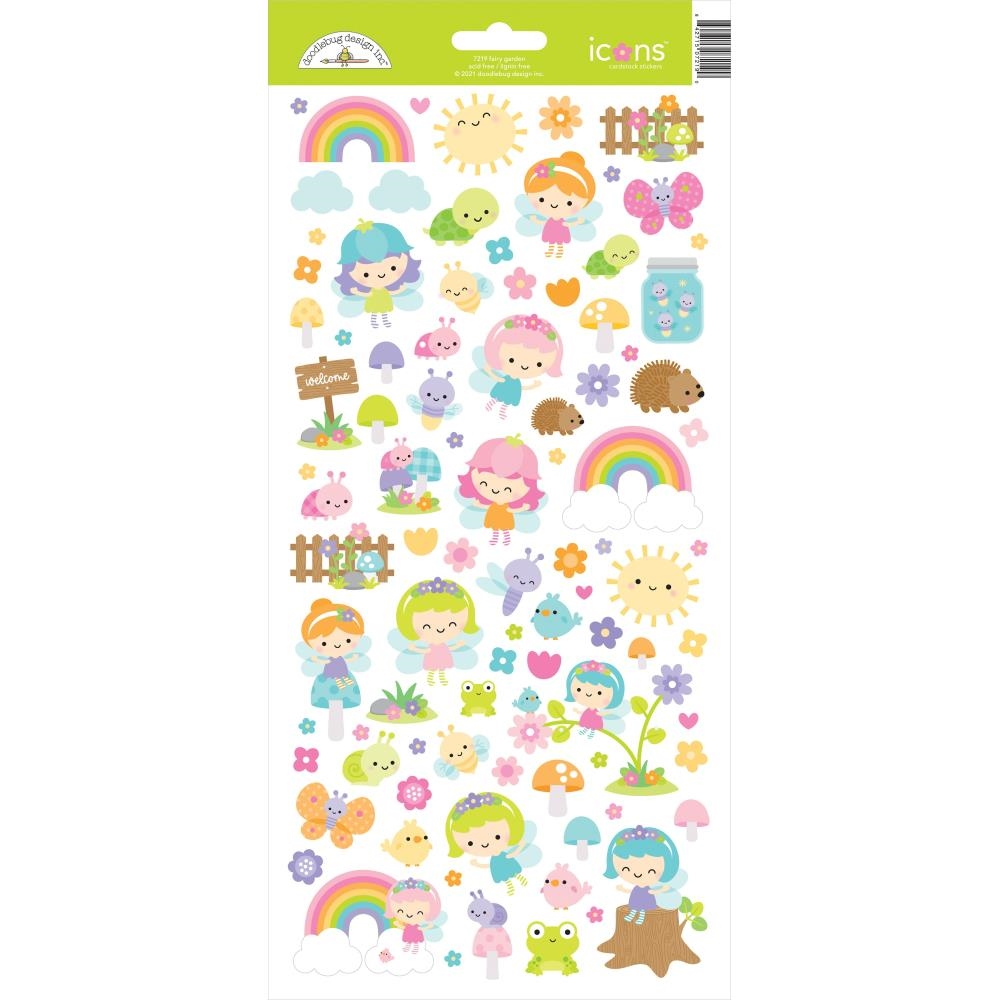 Doodlebug FAIRY GARDEN ICONS Cardstock Stickers 7219 zoom image