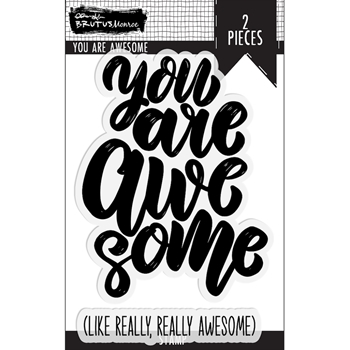 Brutus Monroe YOU ARE AWESOME Clear Stamps bru4116