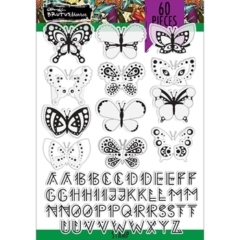 Brutus Monroe DOTTED BUTTERFLY Clear Stamps bru4185