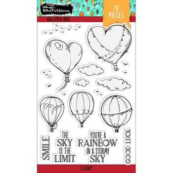 Brutus Monroe BALLOON RIDE Clear Stamps bru4154