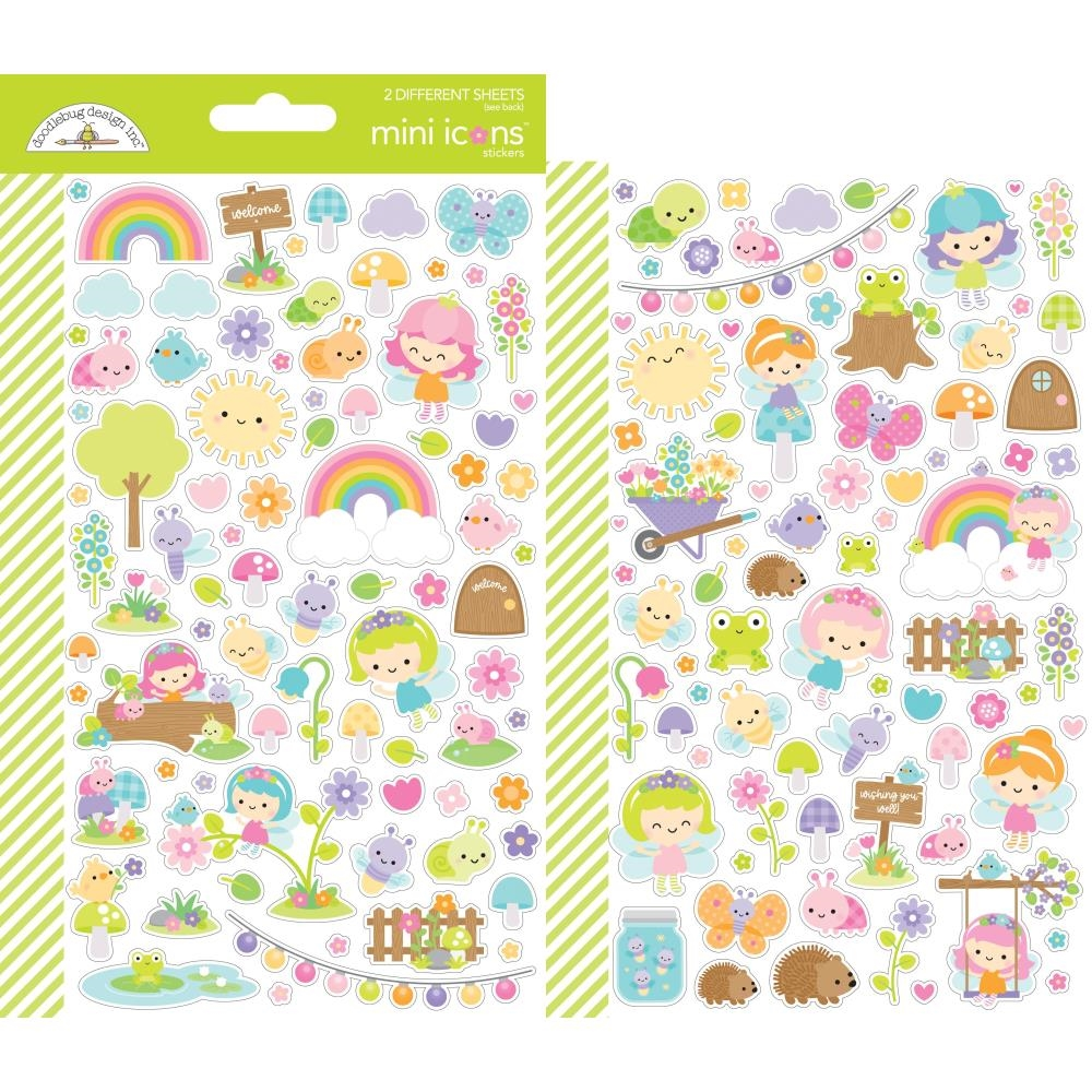 Doodlebug FAIRY GARDEN Mini Icons Stickers 7210 zoom image