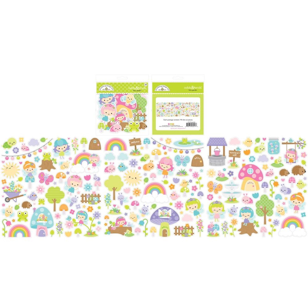 Doodlebug FAIRY GARDEN ODDS AND ENDS Ephemera Die Cut Shapes 7217 zoom image