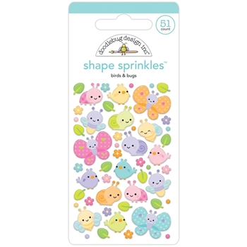Doodlebug BIRDS AND BUGS Fairy Garden Shape Sprinkles 7200