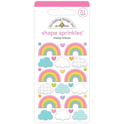 Doodlebug CHASING RAINBOWS Fairy Garden Shape Sprinkles 7201 Preview Image