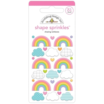 Doodlebug CHASING RAINBOWS Fairy Garden Shape Sprinkles 7201