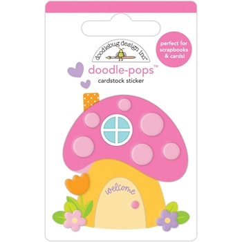Doodlebug FAIRY HOUSE Doodle Pops 3D Stickers 7205