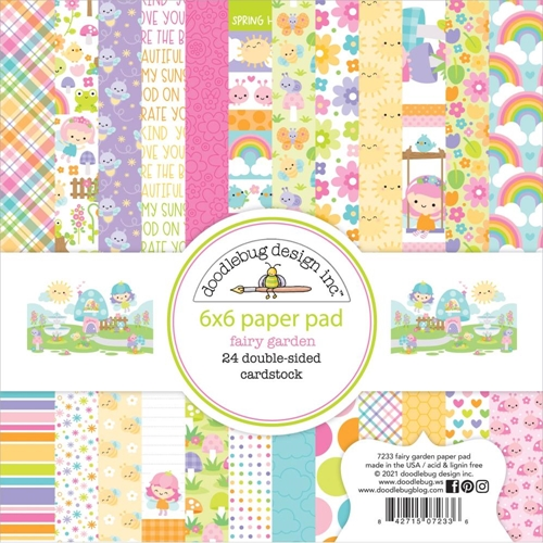 Doodlebug FAIRY GARDEN 6x6 Inch Paper Pad 7233 Preview Image
