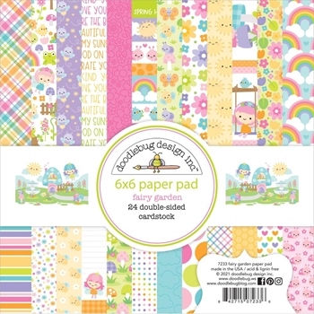 Doodlebug FAIRY GARDEN 6x6 Inch Paper Pad 7233