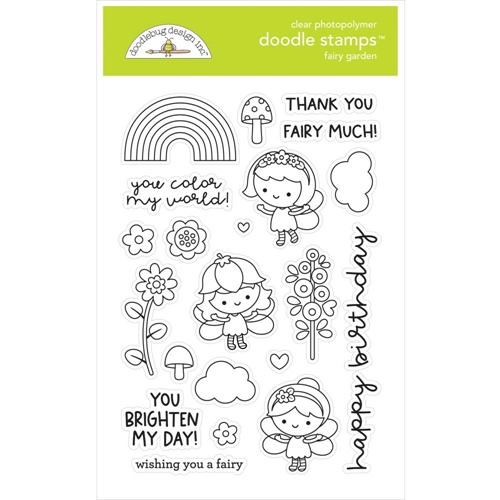 Doodlebug FAIRY GARDEN Clear Stamps 7211 Preview Image