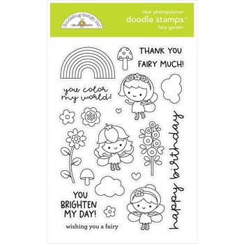 Doodlebug FAIRY GARDEN Clear Stamps 7211