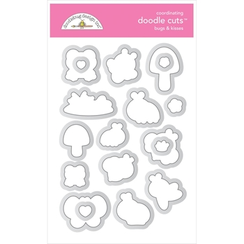 Doodlebug BUGS AND KISSES Doodle Cuts Dies 7214