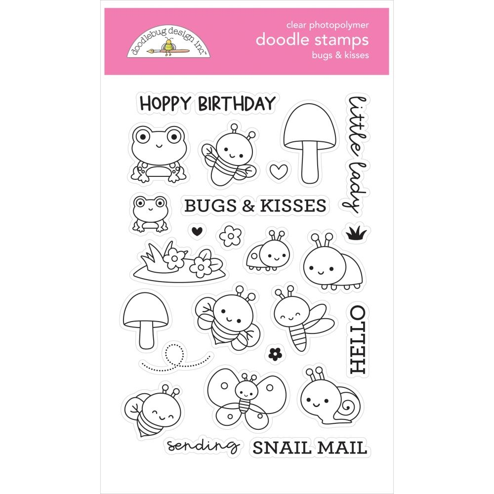 Doodlebug BUGS AND KISSES Clear Stamps 7213 zoom image