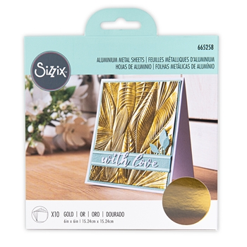 Sizzix GOLD Aluminum Metal Sheets 665258