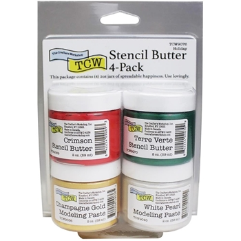The Crafter's Workshop HOLIDAY Stencil Butter Set tcw9076