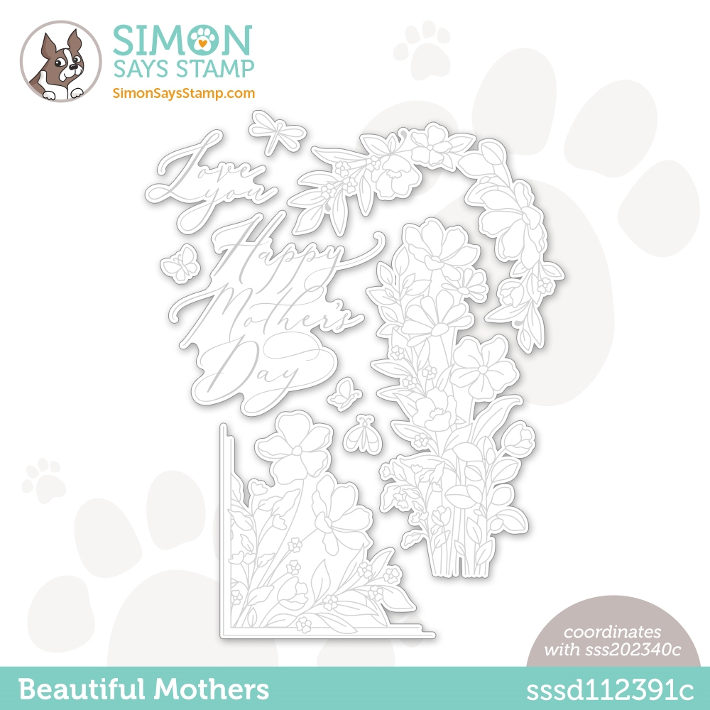 Simon Says Stamp BEAUTIFUL MOTHERS Wafer Dies sssd112391c zoom image