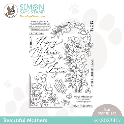 Simon Says Clear Stamps BEAUTIFUL MOTHERS sss202340c ** Preview Image