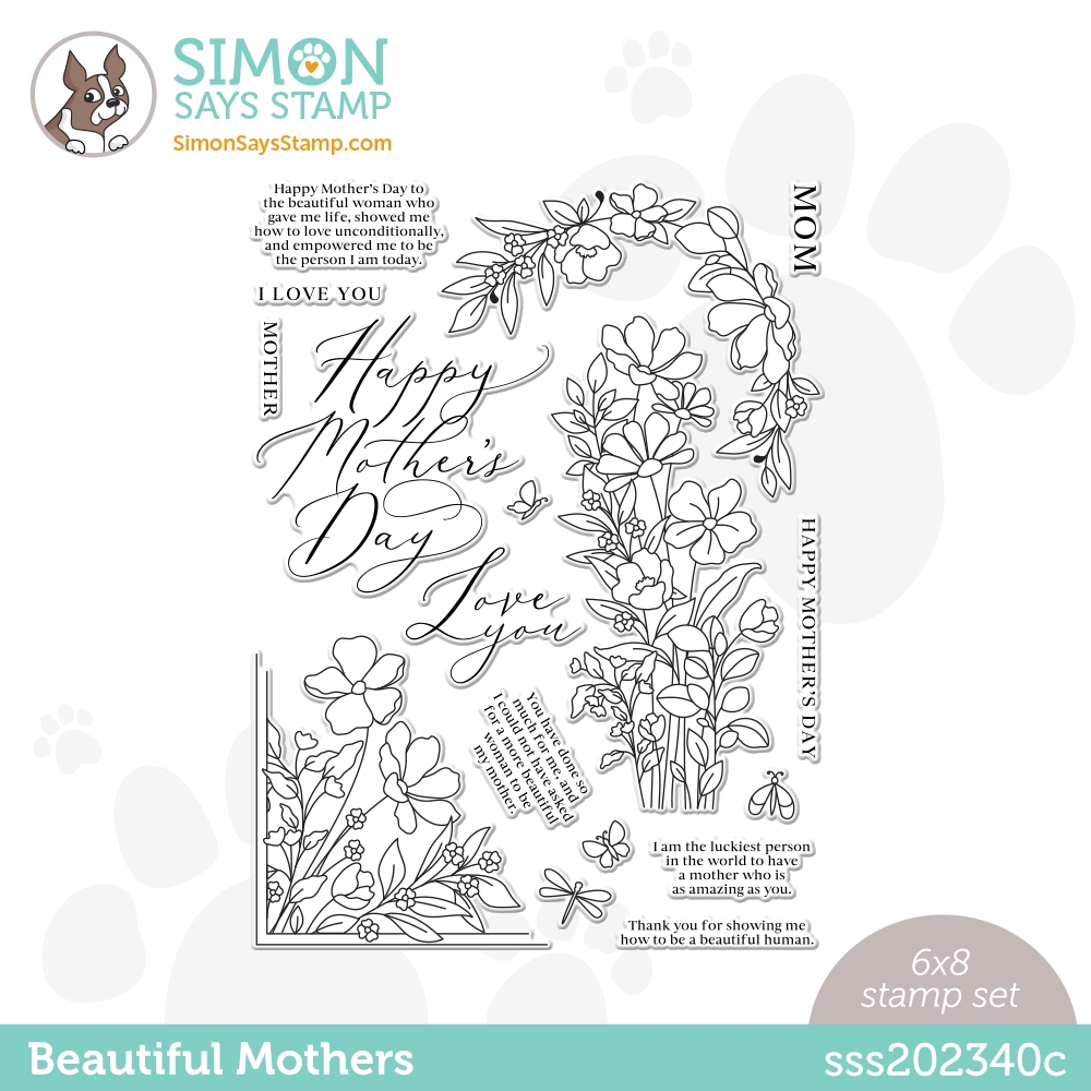 Simon Says Clear Stamps BEAUTIFUL MOTHERS sss202340c ** zoom image