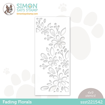 Simon Says Stamp Stencil FADING FLORALS ssst221542