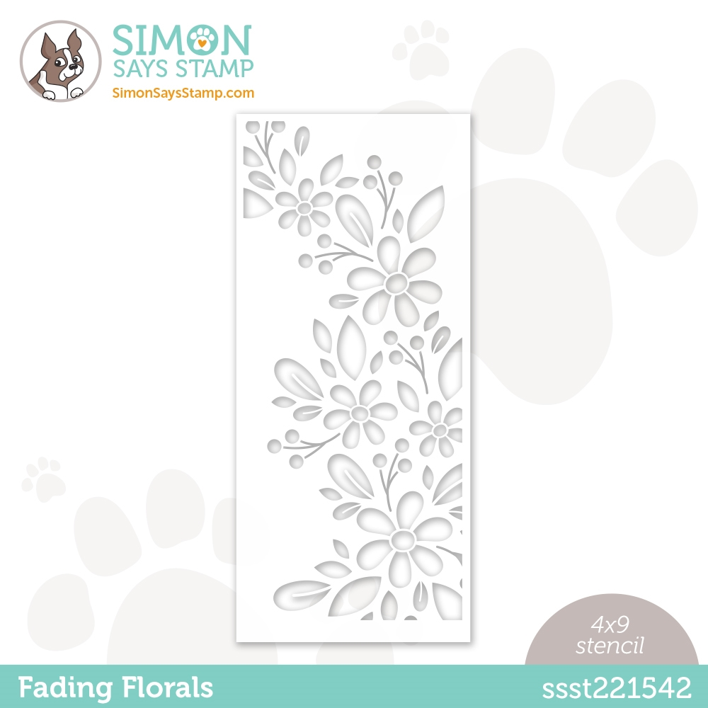 Simon Says Stamp Stencil FADING FLORALS ssst221542 zoom image