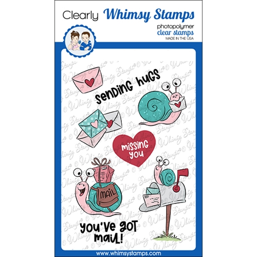 Whimsy Stamps SNAIL MAIL Clear Stamps KHB100a Preview Image