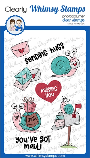 Whimsy Stamps SNAIL MAIL Clear Stamps KHB100a zoom image