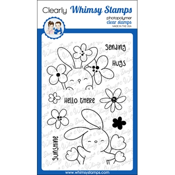 Whimsy Stamps SENDING SUNSHINE Clear Stamps CWSD225a