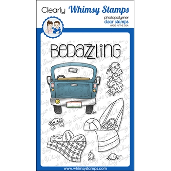 Whimsy Stamps FILL A TRUCK Clear Stamps BS1025